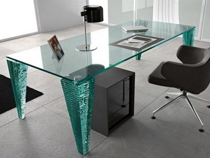 Contemporary Office Desks For Home Stylish Glass Desk Modern
