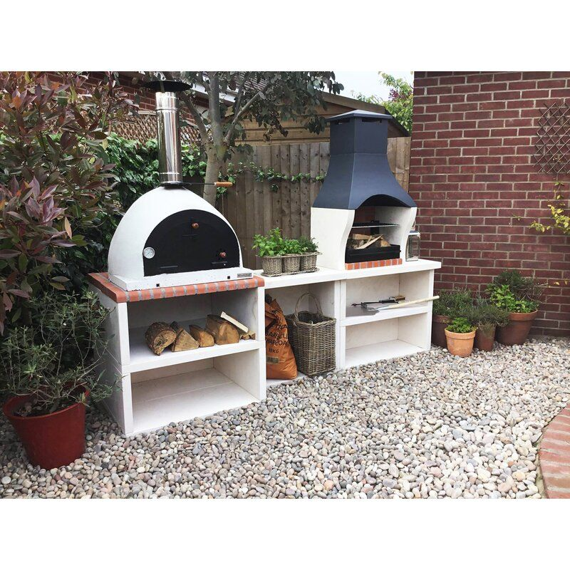 Sol 72 Outdoor Napoli Outdoor Kitchen Combo Bbq And Wood Fired Pizza Oven Wayfair Co Uk In 2020 Pizza Oven Outdoor Pizza Oven Outdoor Pizza