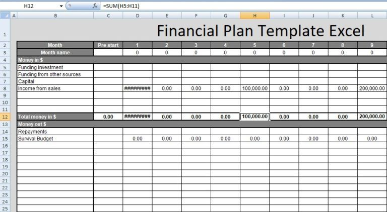 Financial Plan Template Excel Free Spreadsheettemple Financial Plan Template Financial Planning Financial Planning Printables