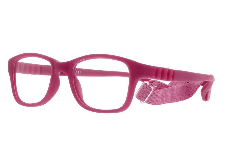 3eb1990433 Pink Kids  Flexible Rectangle Glasses  2021719