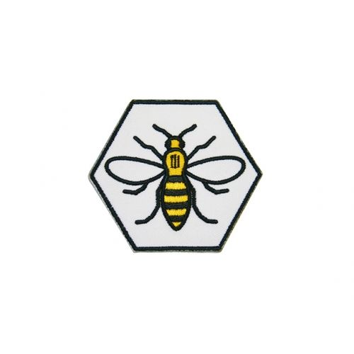 Hexagon Manchester Bee Patch - £2 each or any 3 patches for £5! - extremelargeness.com
