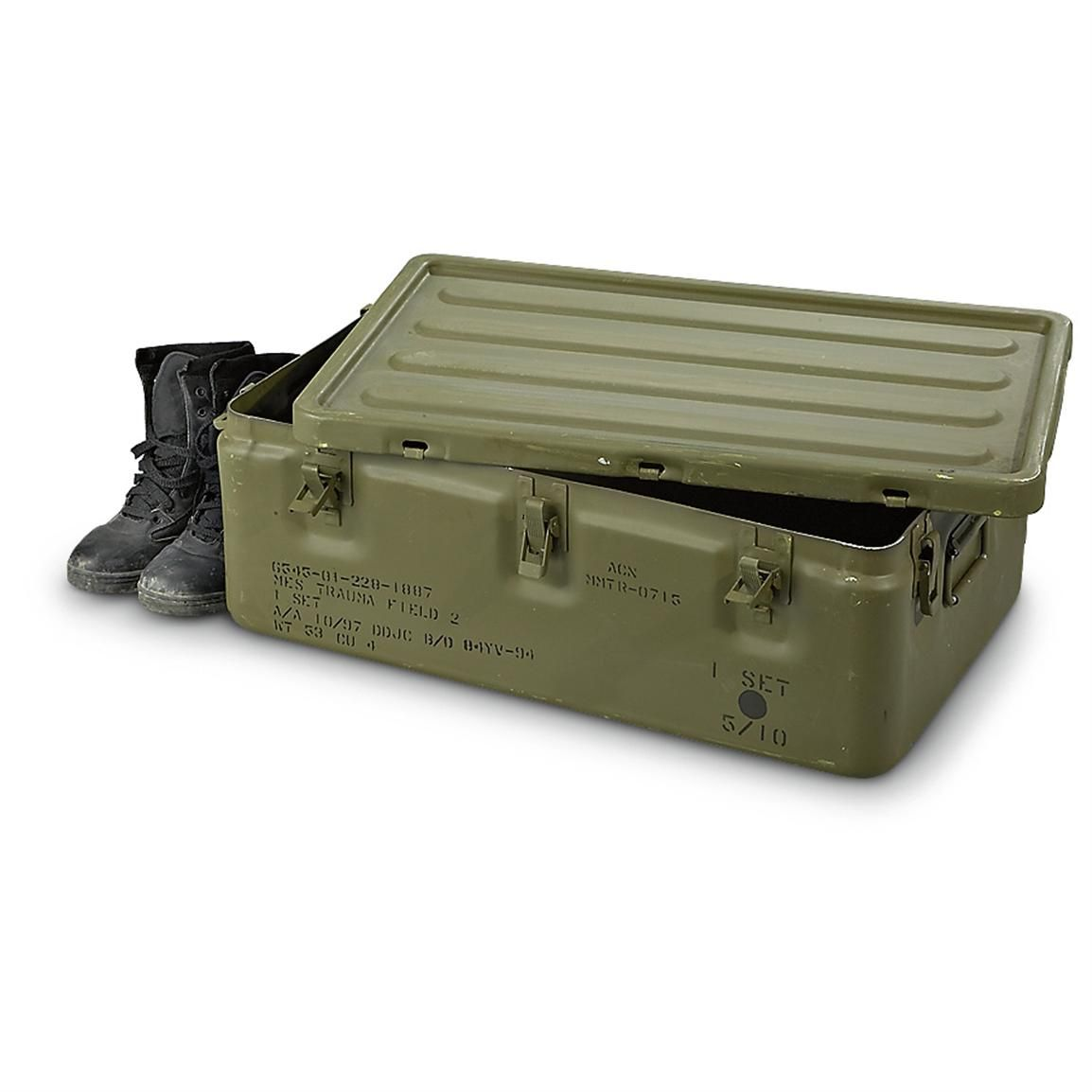 Military Surplus Medical Chest Used Available At A Great Price In Our Storage Containers Collection