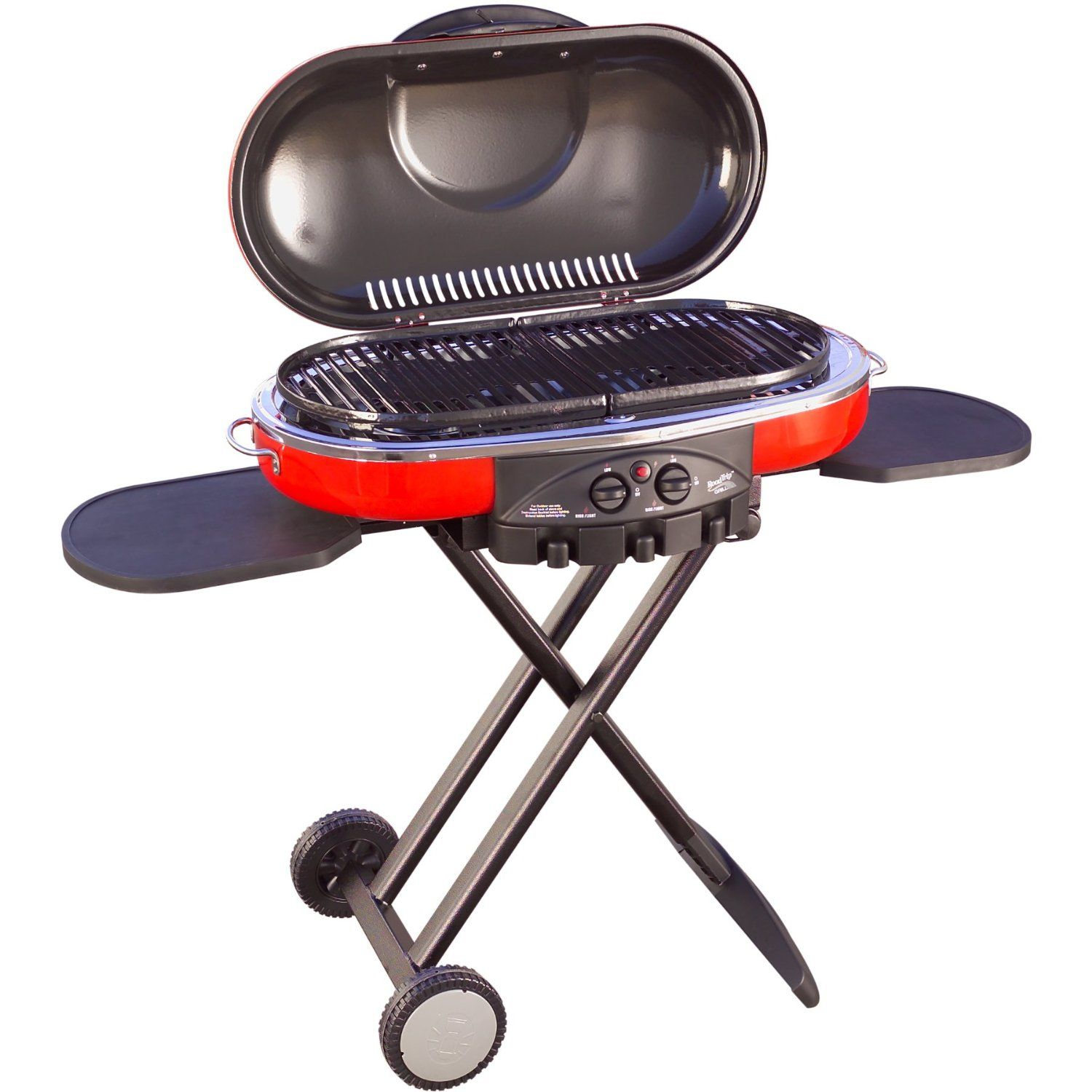 The Coleman RoadTrip LX Series of grills with carts make exceptional  tailgating and camping grills
