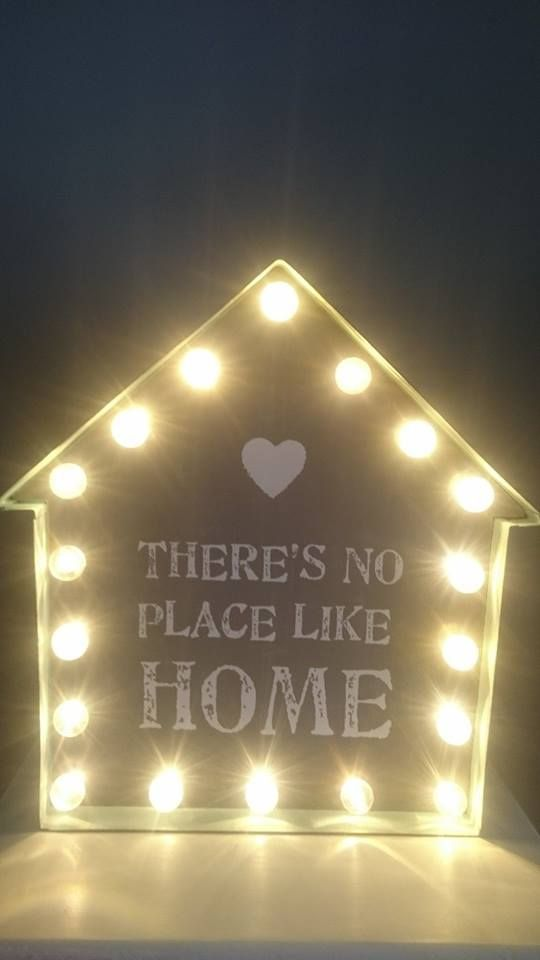 There's no place like home Light up sign £35.00