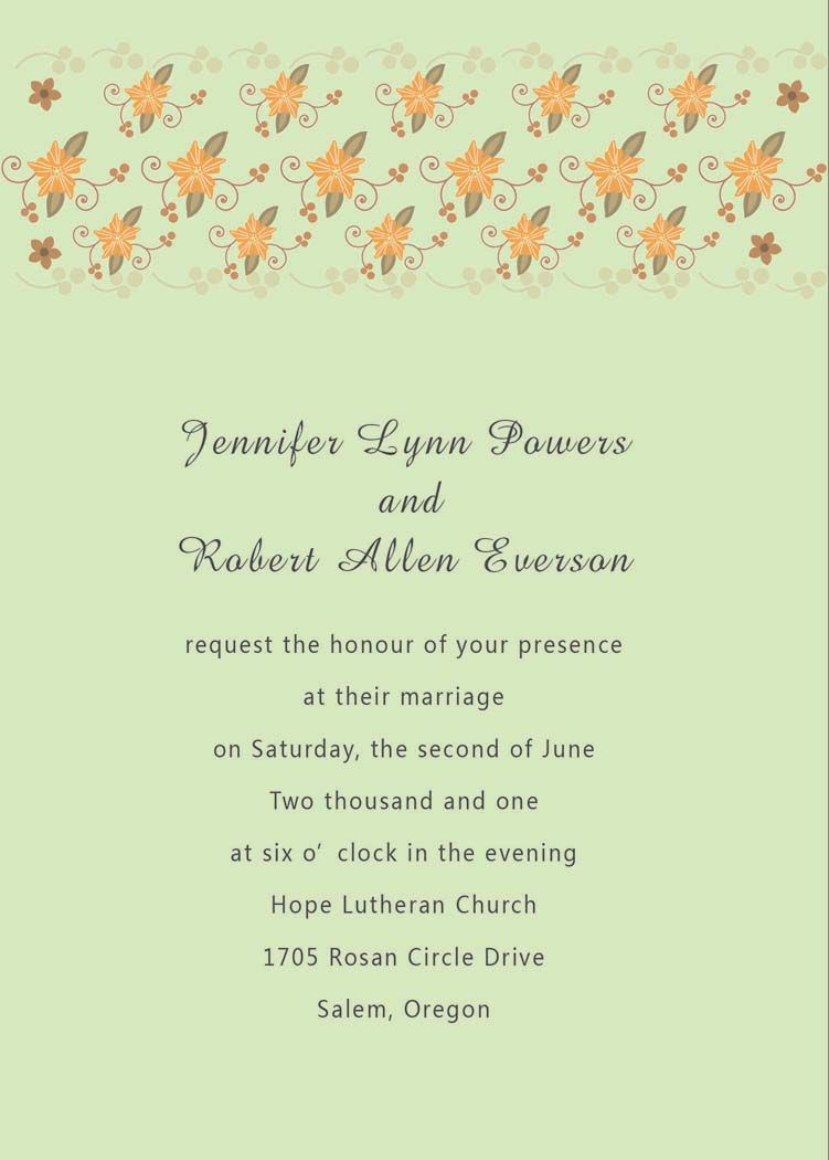 Wedding Invitations In Spanish Text