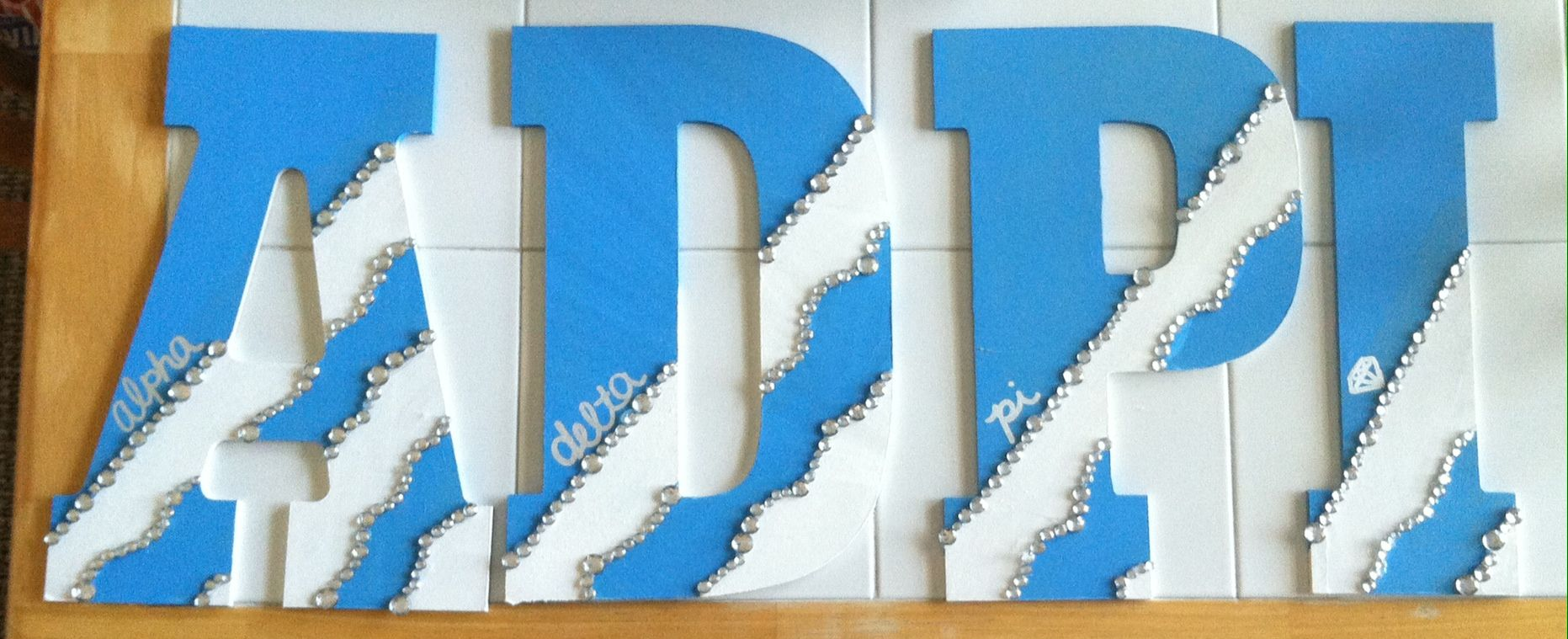 Alpha Delta Pi Wooden Letters For A Potential Little Diamond I