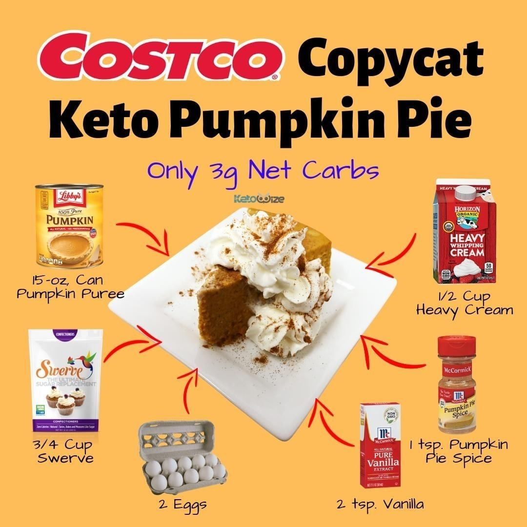 """COSTCO """"COPYCAT"""" KETO PUMPKIN PIE 👊 . This Keto Pumpkin ..."""