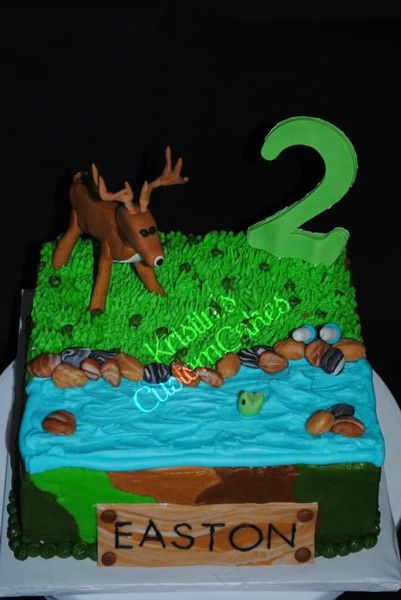 Hunting and fishing birthday cake kids Pinterest Fishing