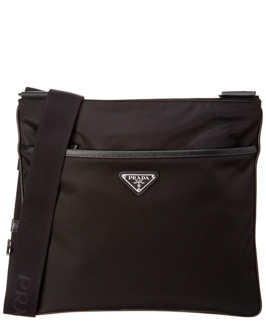 2ecb6644fc3cc0 PRADA NYLON & SAFFIANO LEATHER MESSENGER BAG. #prada #bags #shoulder bags # leather #nylon