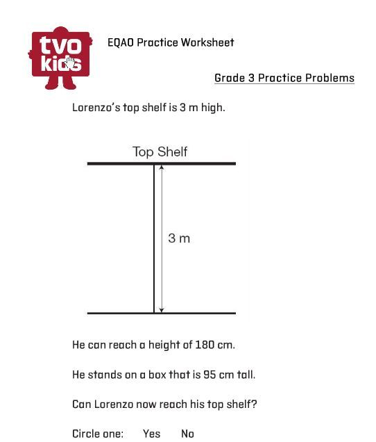 eqao grade 3 printable practice measurement with this worksheet answers included math. Black Bedroom Furniture Sets. Home Design Ideas