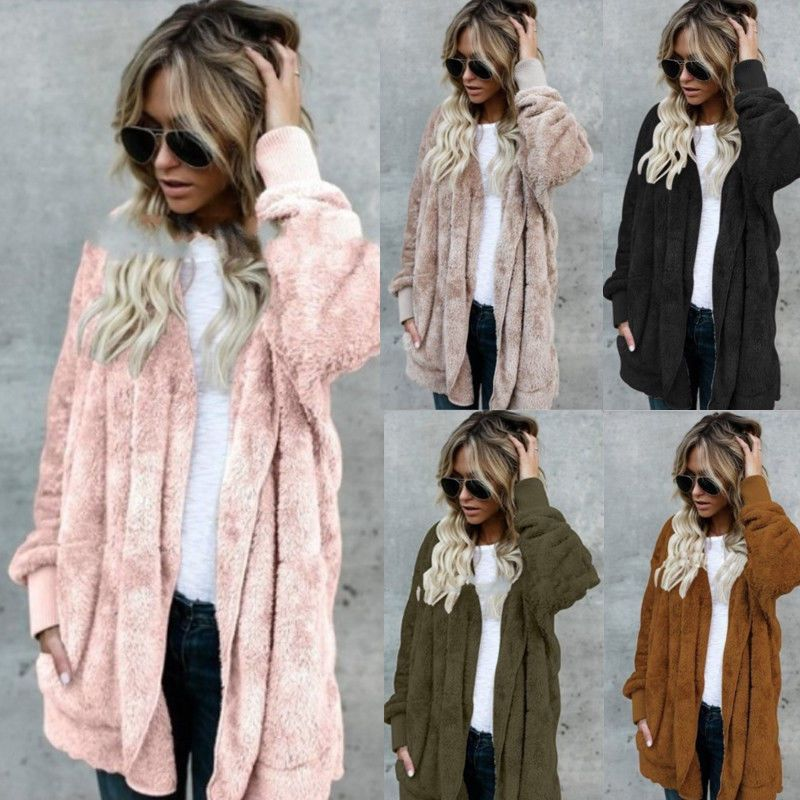 1e654d9c746f Womens Ladies Baggy Cardigan Coat Tops Chunky Knitted Oversized Sweater  Jumper