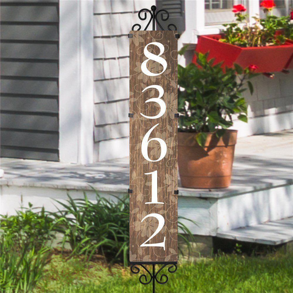 Rustic Personalized Address Yard Stake Personalized Address