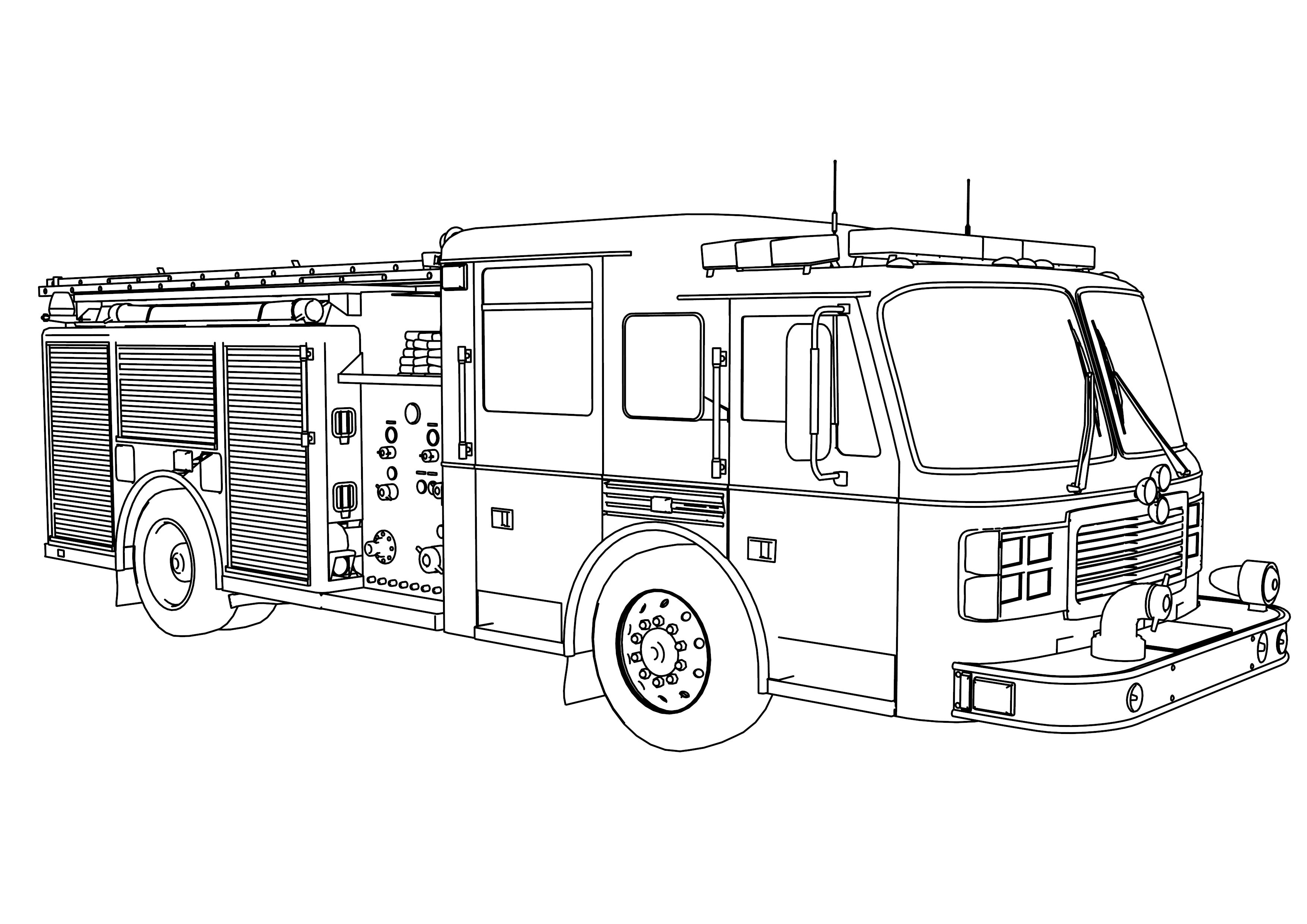 Fire Truck Coloring Page Free Coloring Pages On Art