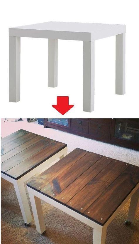 Dieser kleine Tisch kostet 5,95 € bei IKEA. Was man damit alles ...