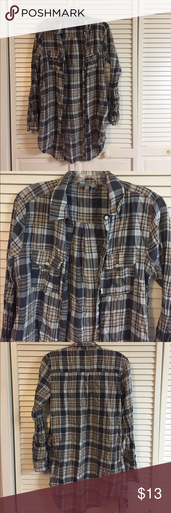 👄Plaid Button Up Tunic 👄 Long sleeve button up plaid tunic. Pair with leggings or jeans. Bundle and save! Free shipping on orders of $50. Rubbish Tops Button Down Shirts