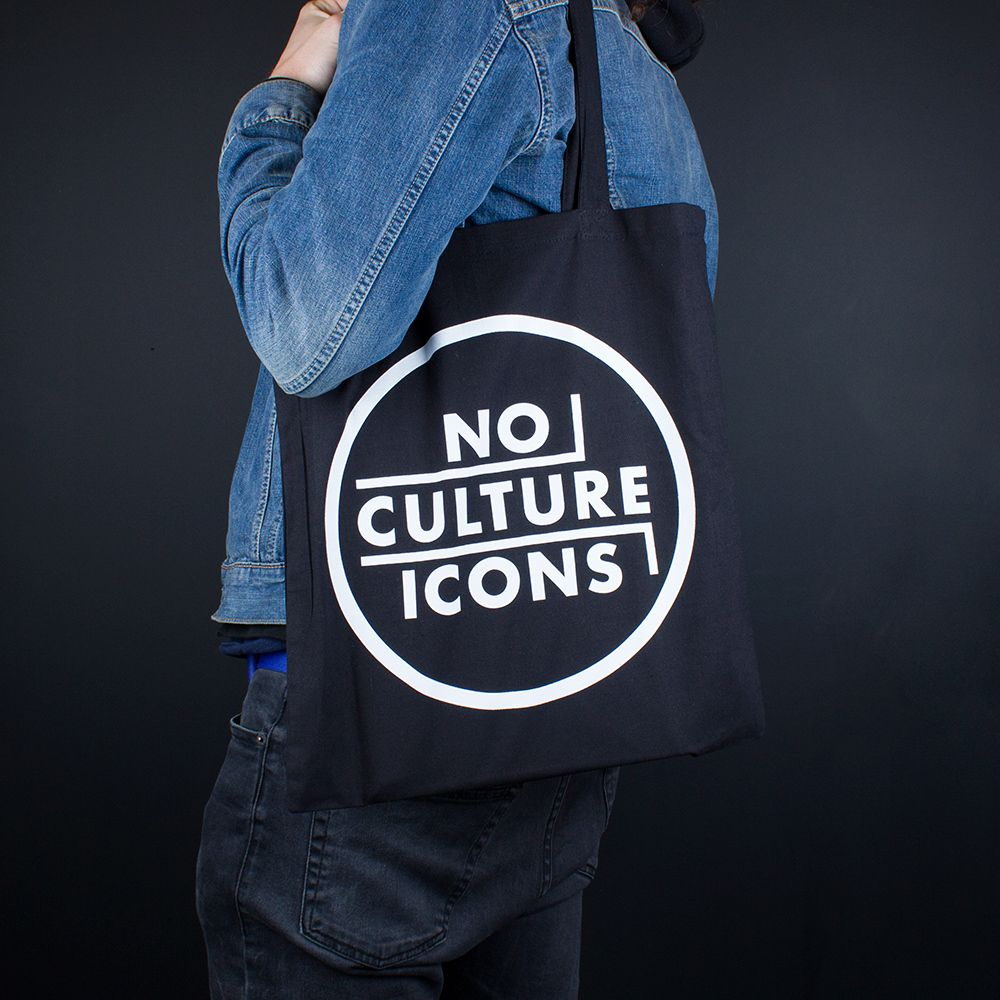 Classic white on black print for http//www.nocultureicons