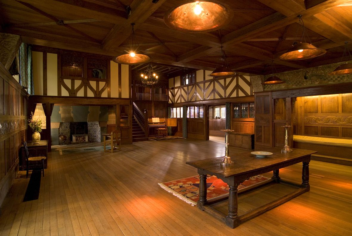 Medieval castle bedrooms hall in blackwell house is - Arts and crafts home interior design ...
