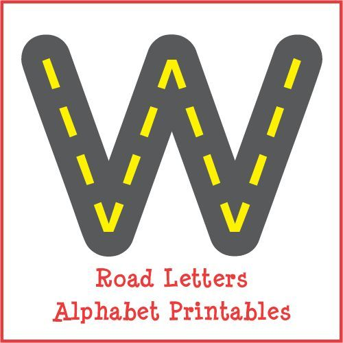Free Road Letters Printable For Learning The Alphabet  Letter