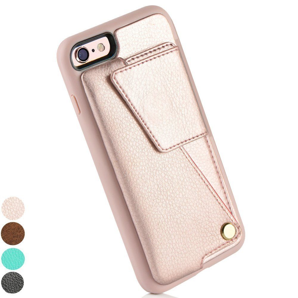 sale retailer 34f45 27e3b Amazon.com: iPhone 6 Card Holder Case, ZVE iPhone 6S Wallet Case ...