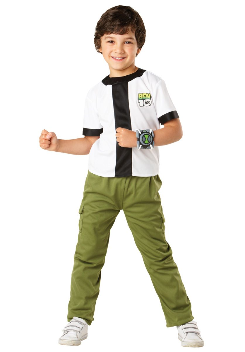 kids ben 10 costume classic cartoon fancy dress general kids costumes at escapade - Cartoon Kid Images