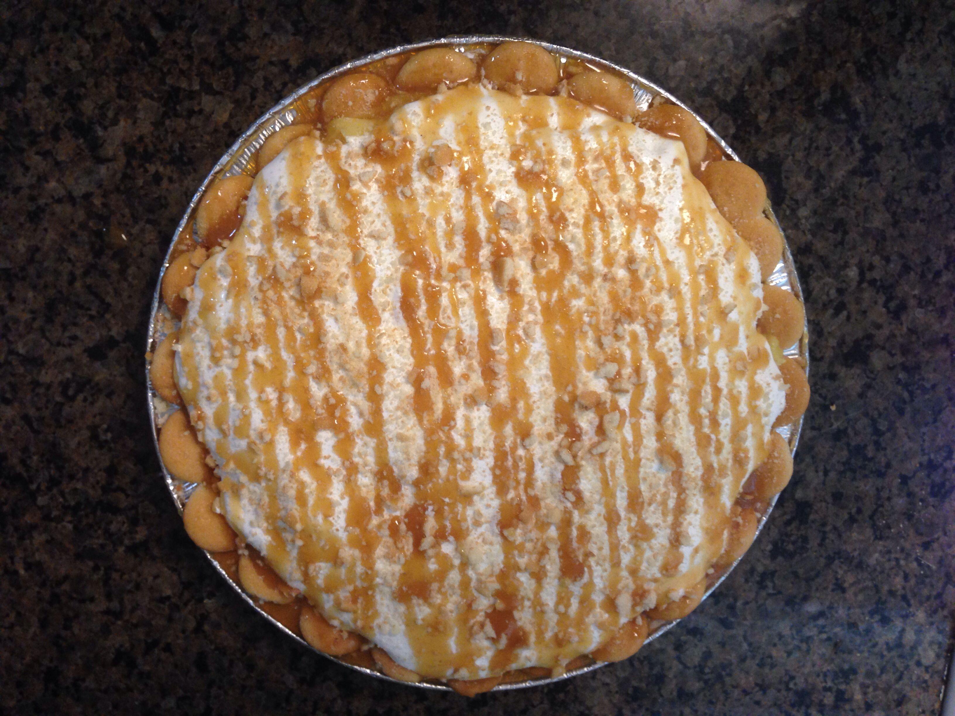 Banana Pudding Pie- Simple To Make!! Ingredients: 1 Box