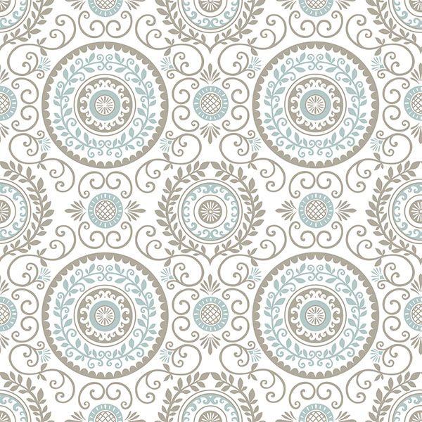 Nu1565 Mirabel Medallion Peel And Stick Wallpaper By Nuwallpaper Medallion Wallpaper Brewster Wallpaper Blue Medallion