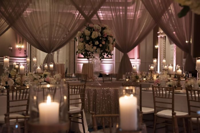 Katie Rich Wedding draping Chic wedding and Wedding planners