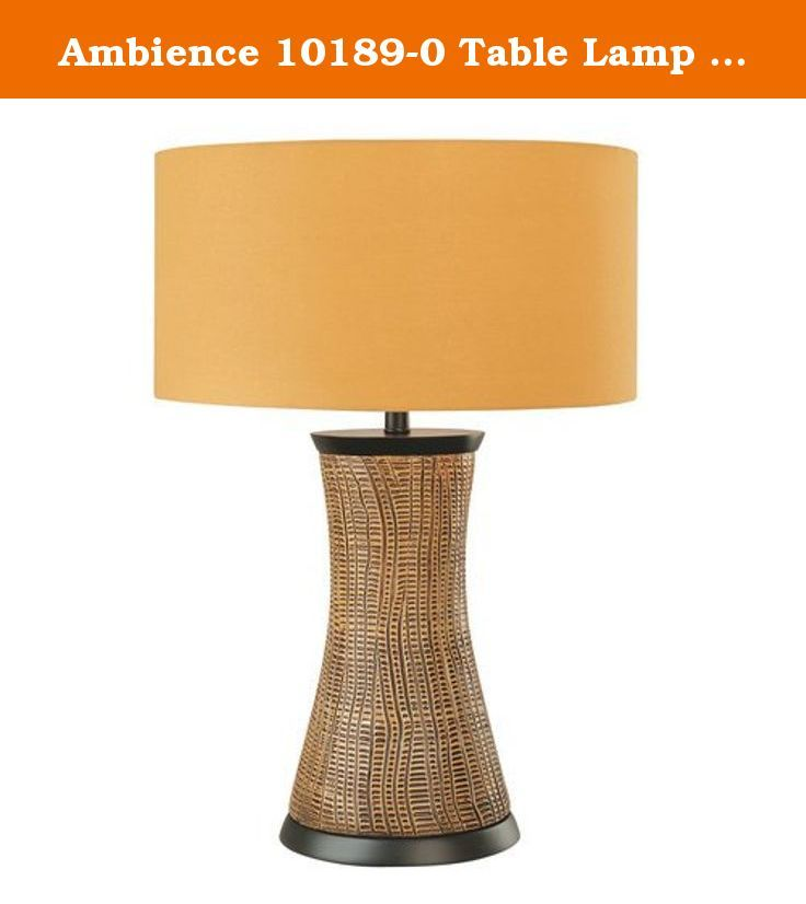 """Ambience 10189-0 Table Lamp 150W. Single Light 27.75"""" Height Table Lamp with Orange Shade Features: Orange fabric drum shade Drum shades offer a simple, elegant design for any room Designed to cast light both upwards and downwards Suitable for dry locations Lamping Technologies: Bulb Base - Medium (E26): The E26 (Edison 26mm), Medium Edison Screw, is the standard bulb used in 120-Volt applications in North America. E26 is the most common bulb type and is generally interchangeable with E27..."""