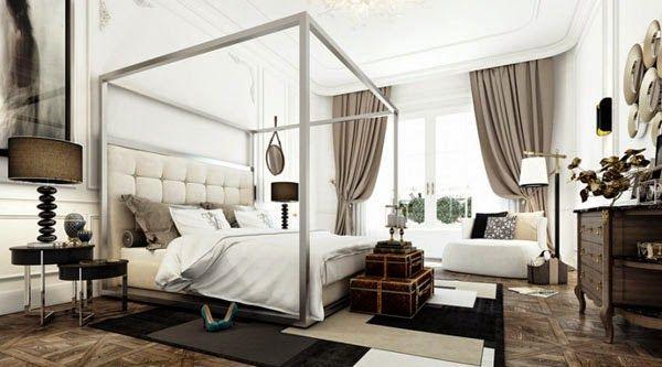 Interior Design Himmelbetten Wohnung Chic Schlafzimmer Design
