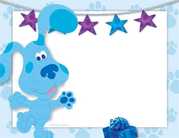 Blues Clues Invitation | Liam\'s 2nd Birthday | Pinterest | Pista