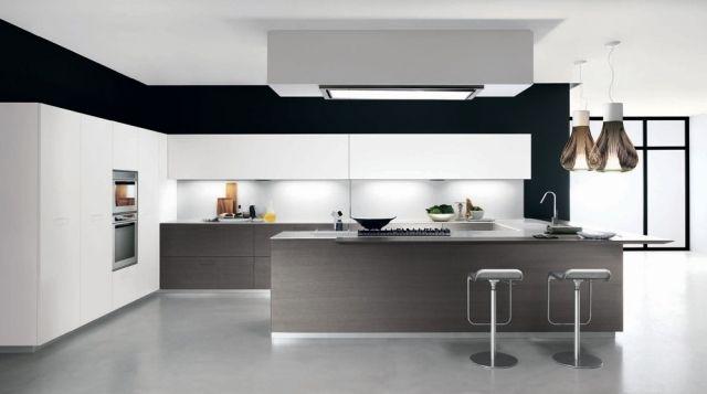 italienische küchen-grifflose fronten-touch beleuchtung-ideen, Kuchen