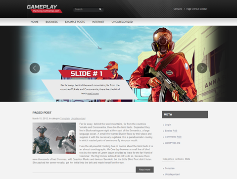 Gameplay is beautiful WordPress theme for GTA V fans. This is a ...