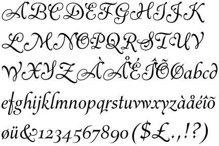 fancy cursive letters | The Earth Without Art Is Just Eh ...
