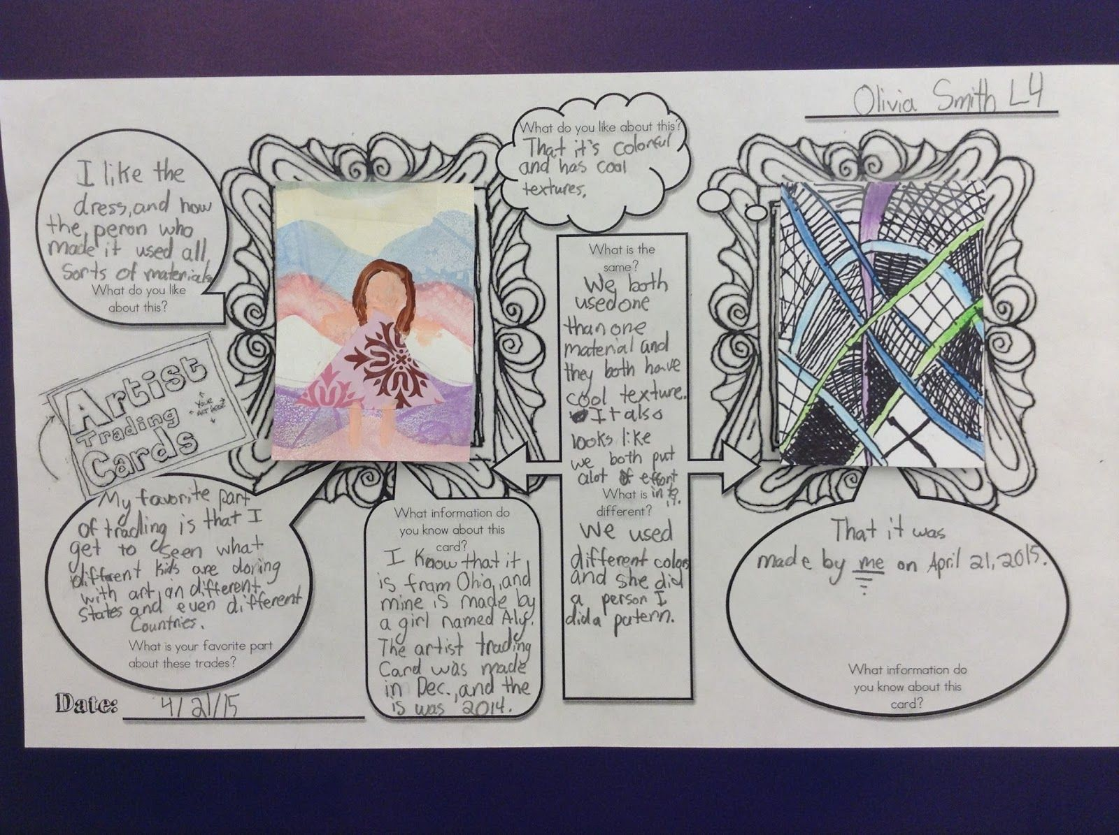 Artist Trading Cards Used For Critical Thinking