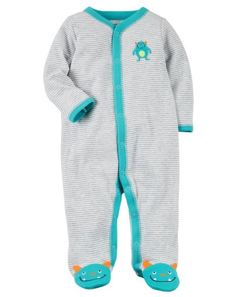 e97bd2515889 Snap-Up Monster Cotton Sleep   Play in 2018