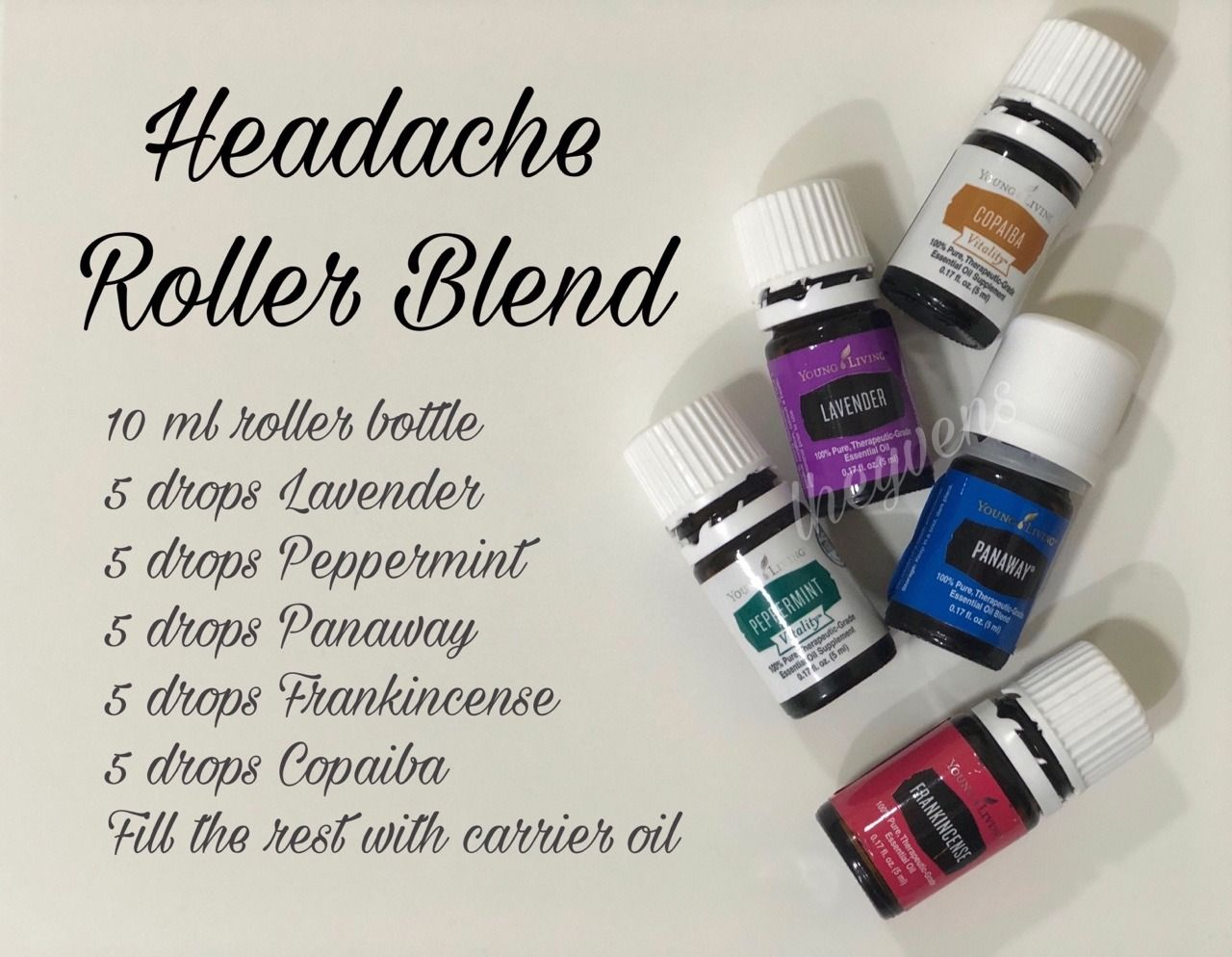 Here S One Alternative Roller Blend Recipe For Headaches All Ess Essential Oils For Migraines Essential Oil Roller Bottle Recipes Essential Oil Blends Recipes