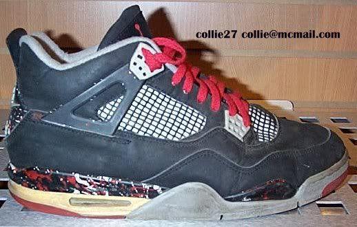 best website 197ef db7d5 Air Jordan IV 4 Black/Red Splatter Sample (1989) | Sneaker ...
