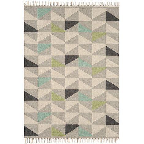 Kelim Modern a simple geometric design woven in a durable reversible wool kelim