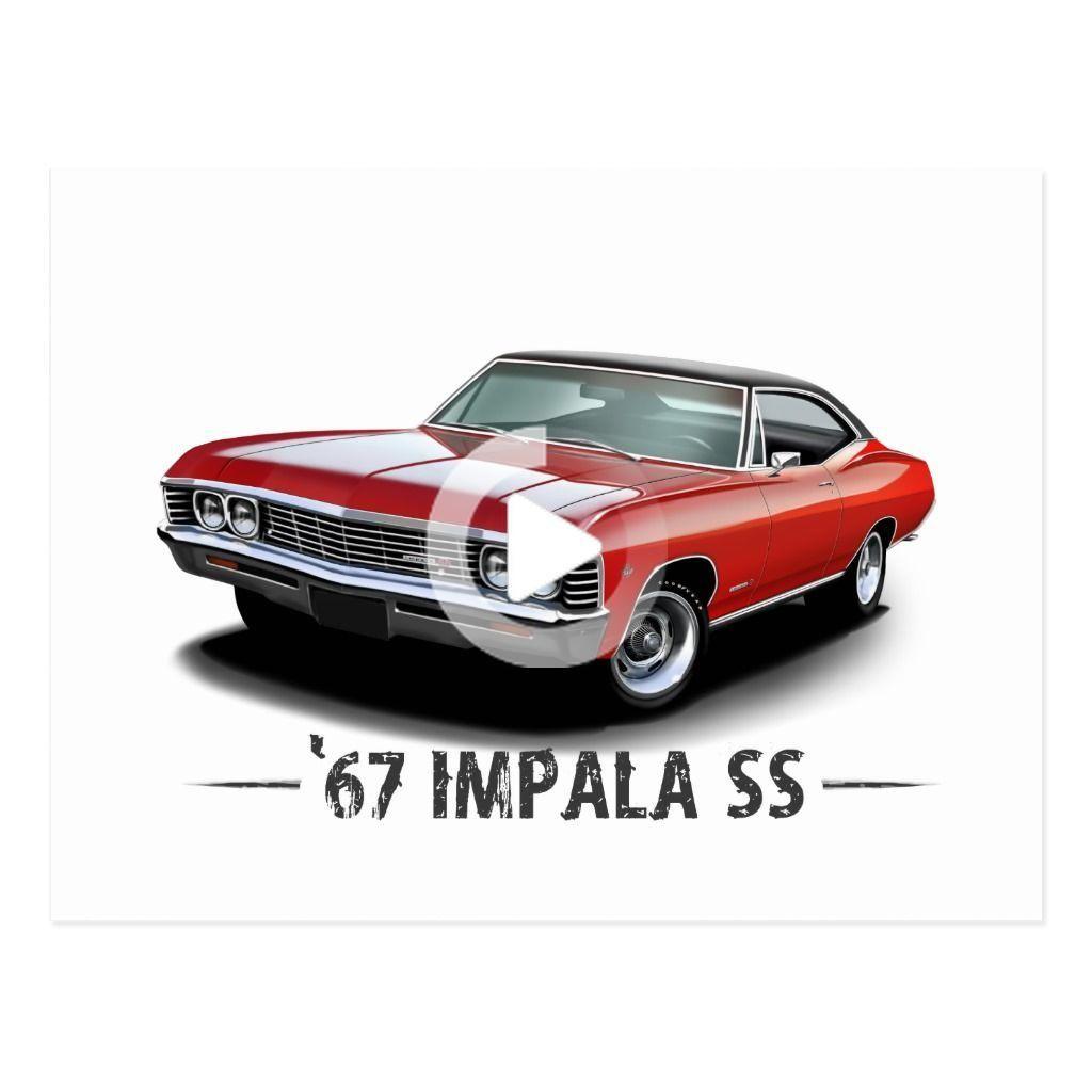 1967 Chevrolet Impala SS Postcard   Zazzle.com