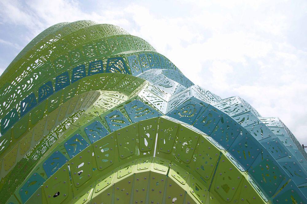 Amphitheater Marc Fornes, France, 990 CNC plates