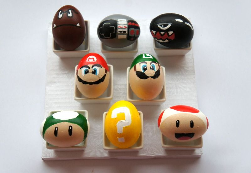 Easter Mario. DIY by Imnopeas at Instructables.