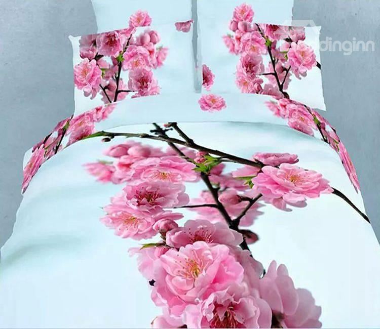 Beddingin; Red Plum Flower Cotton Duvet Cover Sets: http://www.beddinginn.com/product/Red-Plum-Flower-Print-4-Piece-Cotton-Duvet-Cover-Sets-11349565.html; Check here: http://www.beddinginn.com/Custom-3d-Bedding-101840/Newest/