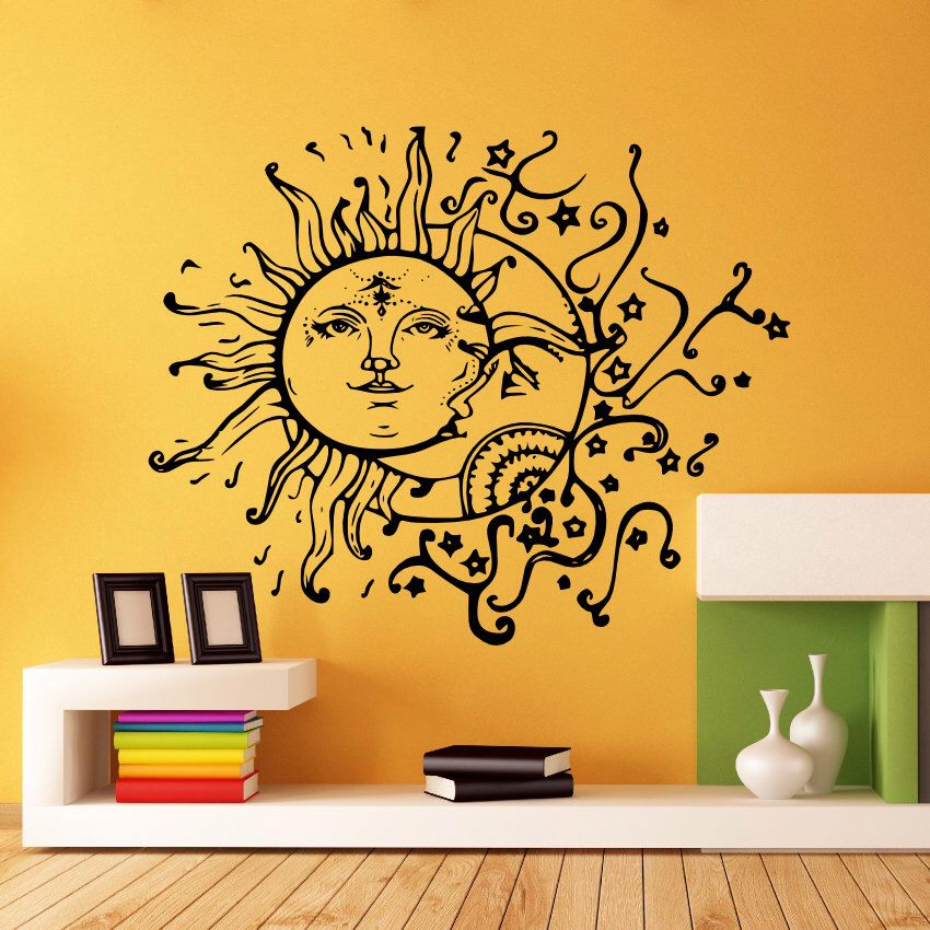 Wall Decal Vinyl Sticker Decals Art Home Decor Design Murals Sun ...