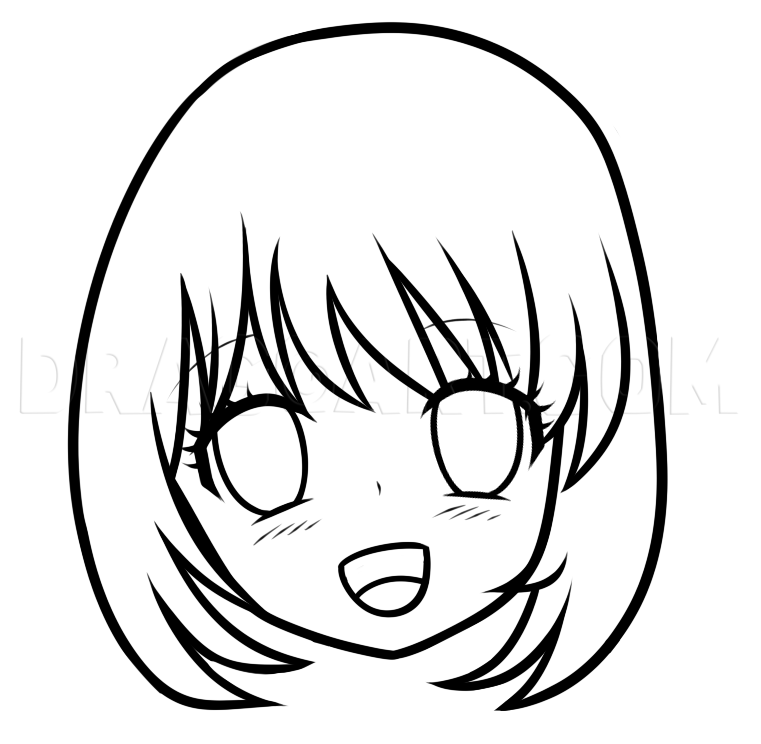 How To Draw An Anime Face For Beginners By Dawn Dragoart Com In 2020 Drawings Face Proportions Drawing Guided Drawing