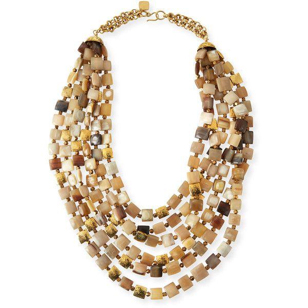 Ashley Pittman Lipua Mixed Horn Collar Necklace v1sfLqn8NH