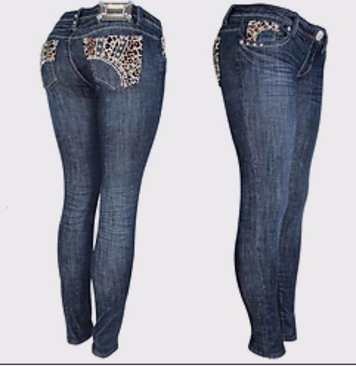 Details about L.A. Idol Size 11, Jeweled Leopard Stud Dark Blue Skinny Jeans  3987NR NWT - Details About L.A. Idol Size 11, Jeweled Leopard Stud Dark Blue