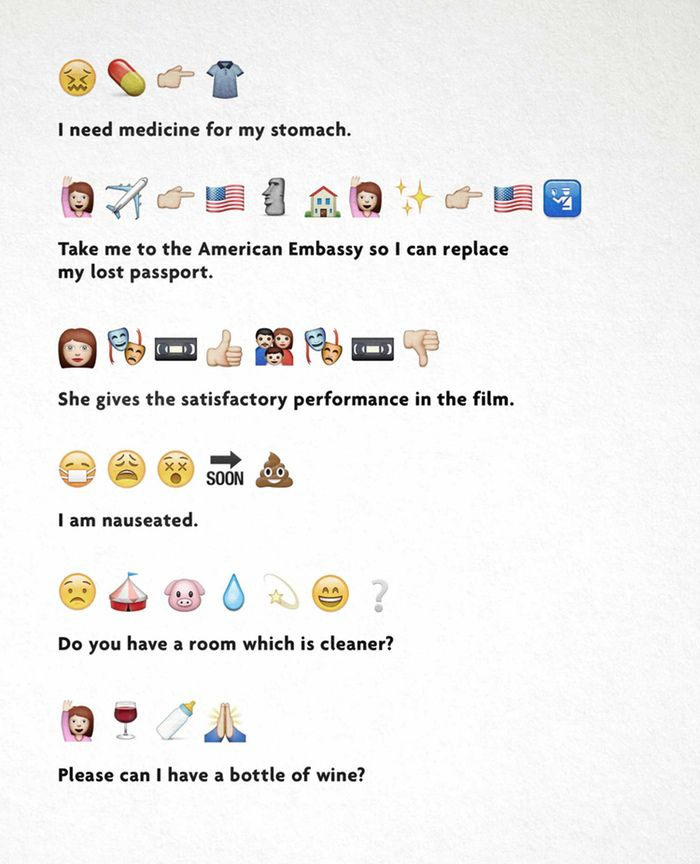 The Emoji Translation Project An Emoji Translation Engine And Phrasebook Emoji Sentences Emoji Sentence Examples