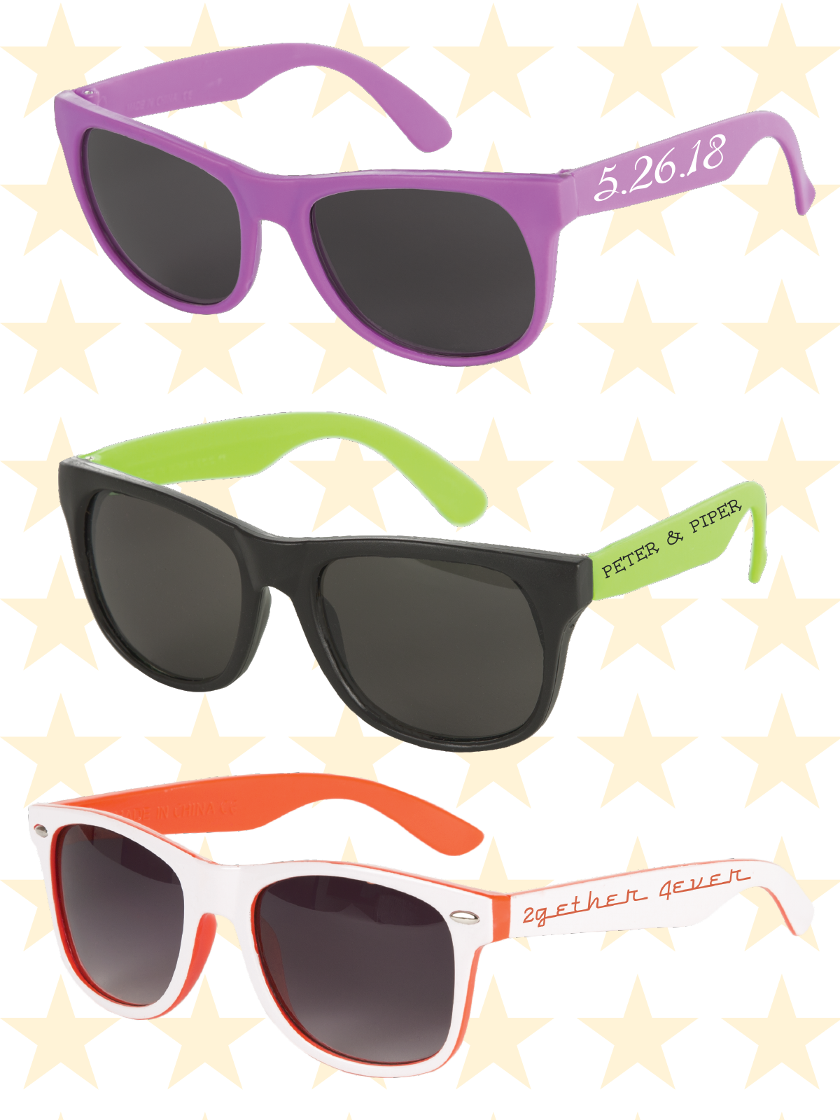 Custom sunglasses for wedding, wedding favor, bridal shower ...
