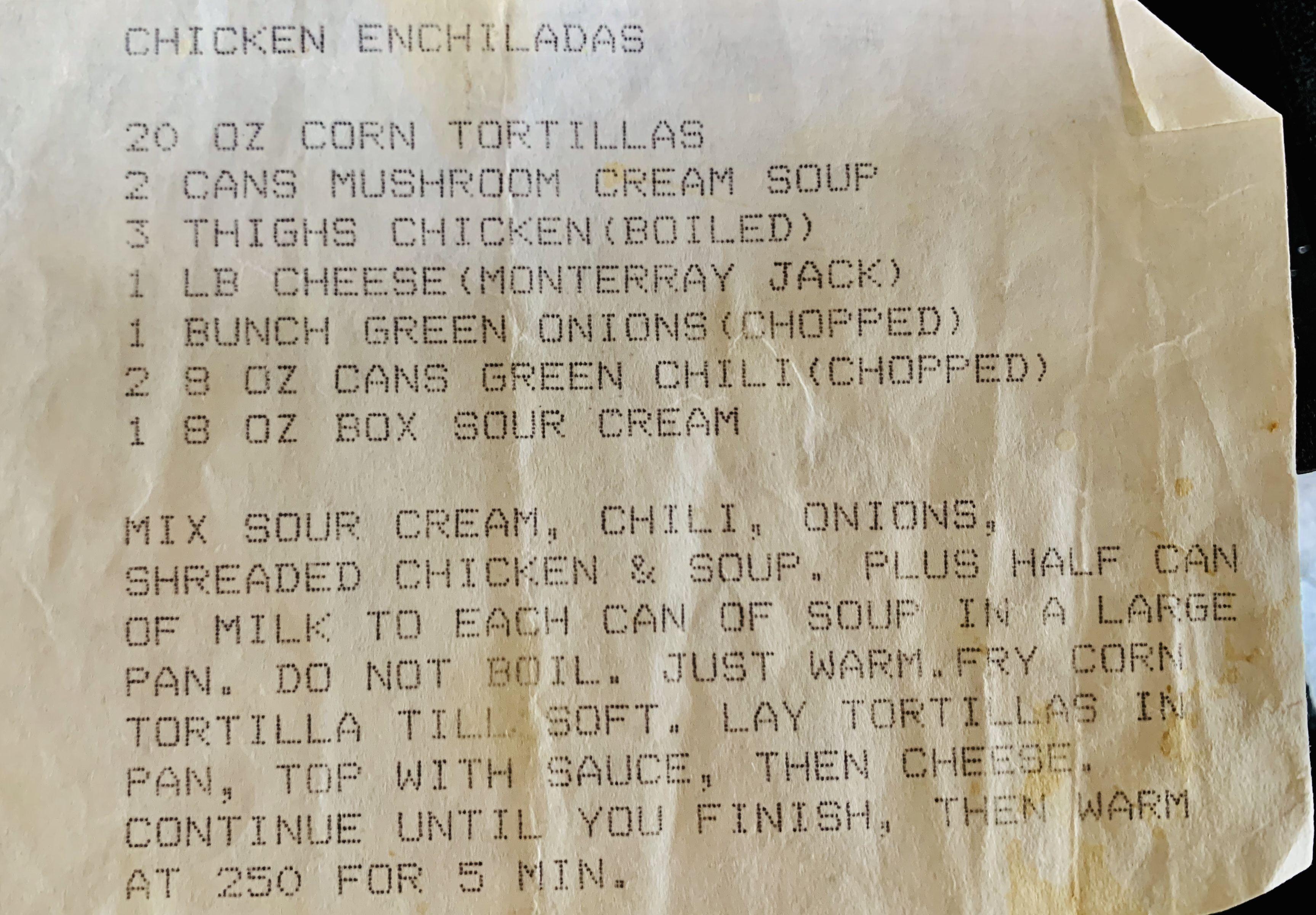 Sour Cream Chicken Enchiladas Sour Cream Chicken Chicken Enchiladas Canned Mushrooms