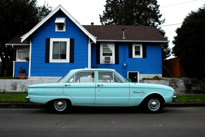 Old Parked Cars. 1961 Ford Falcon Sedan. Ford falcon